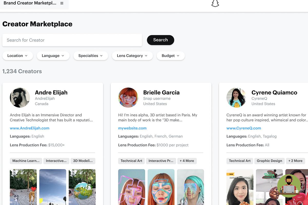Snapchat Announces New Creator Marketplace