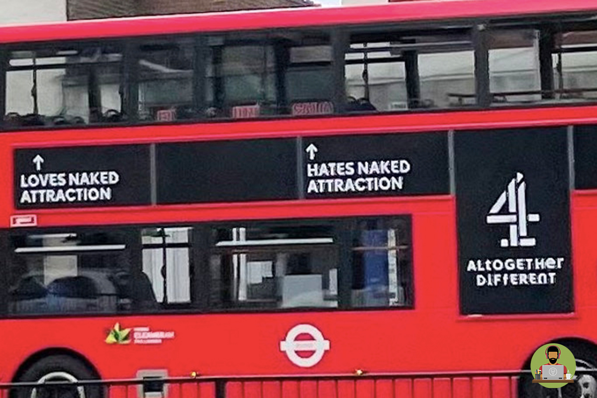 Channel 4's 'Creepy' Naked Attraction Bus Campaign